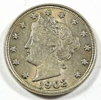 1902 LIBERTY NICKEL AU