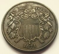 1871 TWO CENT PIECE U.S. COIN  FREE SHIP
