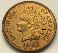 HIGH GRADE GORGEOUS 1903 INDIAN HEAD PENNY ONE CENT U.S. COIN  FREE SHIP