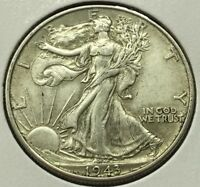 1943 WALKING LIBERTY HALF DOLLAR SILVER U.S. COIN  FREE SHIP