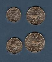 NEPAL COINS RE.1 AND RS. 2  2006   BRASS PLATED STEEL