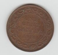 1918 CANADA GEORGE V LARGE ONE CENT