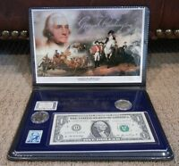 GEORGE WASHINGTON COLLECTION  COINS STAMPS DOLLAR BILL COMMEMORATIVE