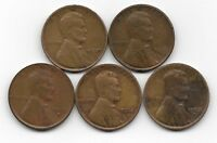 1930 1930D 1930S 1932 1932D LINCOLN WHEAT CENT CENTS 5 COIN LOT