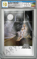 2018 STAR WARS: A NEW HOPE   PREMIUM SILVER FOIL   CGC 10 GEM MINT FIRST RELEASE