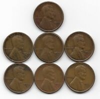 1923S 1924S 1925S 1927S 1928S 1929S 1930S LINCOLN WHEAT CENT CENTS 7 COIN LOT