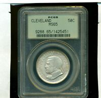 1936 CLEVELAND GREAT LAKES EXPO GRADED PCGS MINT STATE 65 OGH COMMEMORATIVE