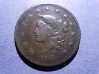 1835 HEAD OF 36 CORONET HEAD LARGE CENT FINE