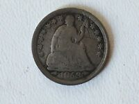 1853 UNITED STATES SEATED LIBERTY HALF DIME ARROWS AT DATE
