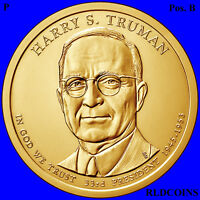 2015 P POS. B PRESIDENT HARRY S. TRUMAN UNCIRCULATED PRESIDENTIAL DOLLAR