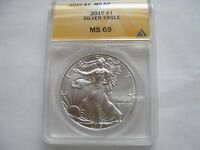 2015 AMERICAN SILVER EAGLE , MINT STATE 69 , ANACS CERTIFIED