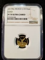 2017 MO MEXICO GOLD LIBERTAD 1/10 OZ NGC PF 70 ULTRA CAMEO ONLY 1500 MINTED