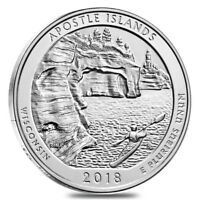 2018 5 OZ SILVER AMERICA THE BEAUTIFUL ATB WISCONSIN APOSTLE ISLANDS NATIONAL