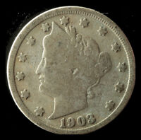 1903-P LIBERTY NICKEL SHIPS FREE. BUY 5 FOR $2 OFF