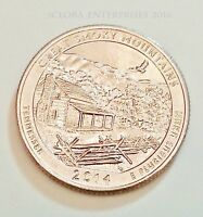 2014 D GREAT SMOKY MOUNTAINS NATIONAL PARK QUARTER