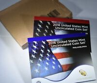 2016 US MINT UNCIRCULATED P&D COIN SET   WITH OGP BOX AND COA