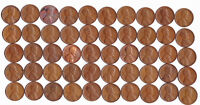 1950 D LINCOLN WHEAT CENT ROLL