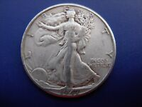 BETTER DATE 1947-D WALKING LIBERTY HALF IN VF CONDITION. 3