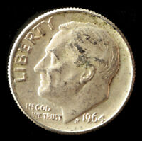 1964 P BULLION 90  SILVER JUNK DIME SHIPS FREE. BUY 5 FOR $2 OFF