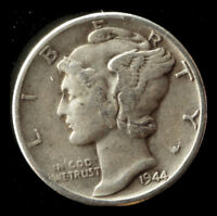 1944 P MERCURY 90  SILVER DIME SHIPS FREE. BUY 5 FOR $2 OFF