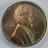 1940-D 1C LINCOLN CENT ANACS MINT STATE 64 RB