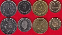 EL SALVADOR SET OF 4 COINS: 1   10 CENTAVOS 1974 1995 UNC