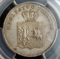 Click now to see the BUY IT NOW Price! 1831 POLAND  NOVEMBER UPRISING .  SILVER 5 ZLOTYCH COIN. GEM  PCGS MS 64