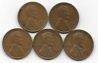 1929S 1931 1932 1932D 1933 LINCOLN WHEAT CENT CENTS 5 COIN LOT