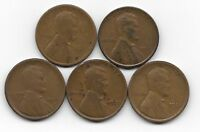 1917S 1919D 1919S 1921 1921S LINCOLN WHEAT CENT CENTS 5 COIN LOT