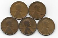 1921 1923 1924 1925 1926 LINCOLN WHEAT CENT CENTS 5 COIN LOT