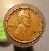 ONE ROLL LINCOLN WHEAT CENTS  1948 D  F/VF