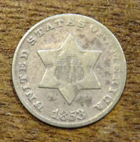 1853 3-CENT SILVER