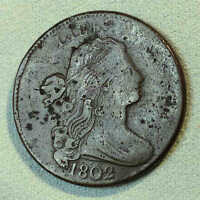 1802 DRAPED BUST LARGE CENT S230 R1 VF-EXTRA FINE  DETAIL