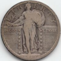1917 STANDING LIBERTY QUARTER TYPE OR VARIETY OR VAR 2 OR II OR T-2, VG