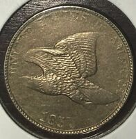 1857 FLYING EAGLE CENT IN ALMOST UNCIRCULATED CONDITION K413
