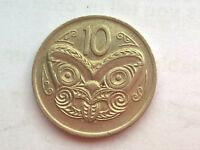 NEW ZEALAND 10 CENTS 1976 COIN
