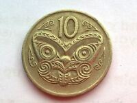 NEW ZEALAND 10 CENTS 1975 COIN