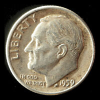 1959-D ROOSEVELT 90 SILVER DIME SHIPS FREE. BUY 5 FOR $2 OFF