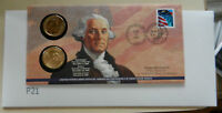 2007 GEORGE WASHINGTON $1 COIN FIRST DAY DOLLAR COVER - STAMP AND COIN. SEALED