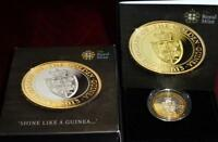 2013 PROOF SILVER & GOLD 2 350TH ANNIVERSARY OF THE GUINEA I