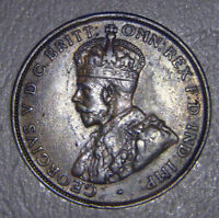 AUSTRALIA   1925 PENNY ERROR VARIETY   WITH 6 PEARLS & <>