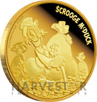 2015 DISNEY SCROOGE MCDUCK   1/4 OZ. PROOF GOLD COIN   OGP &