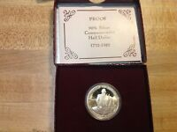 1982 S PROOF GEORGE WASHINGTON SILVER HALF DOLLAR US MINT COIN IN BOX WITH COA