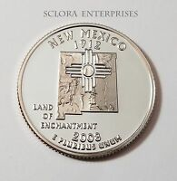 2008 S NEW MEXICO  CLAD PROOF  STATE QUARTER