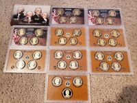 2007 2016 S COMPLETE PRESIDENTIAL PROOF DOLLAR SET