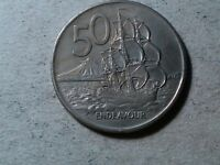NEW ZEALAND 50 CENTS 1972 SHIP COIN