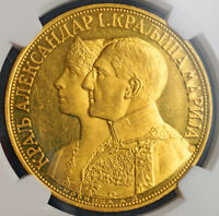 Click now to see the BUY IT NOW Price! 1931 YUGOSLAVIA KING ALEXANDER I. GOLD 4 DUCATS  4 DUKATA .   NGC MS 60