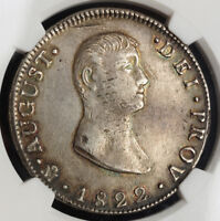 Click now to see the BUY IT NOW Price! 1822 MEXICO EMPEROR AGUSTIN ITURBIDE. LARGE SILVER 8 REALES COIN. NGC AU 53