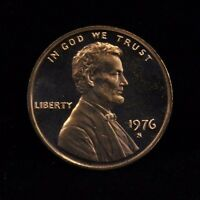 1976 S UNCIRCULATED MINT PROOF LINCOLN CENT 1C COIN DCAM