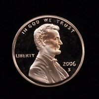 2006 S UNCIRCULATED MINT PROOF LINCOLN CENT 1C COIN DCAM